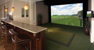 photo d'un simulateur de golf indoor